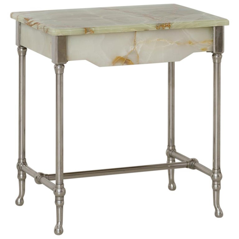 Rare French Agate Patisserie Table For Sale