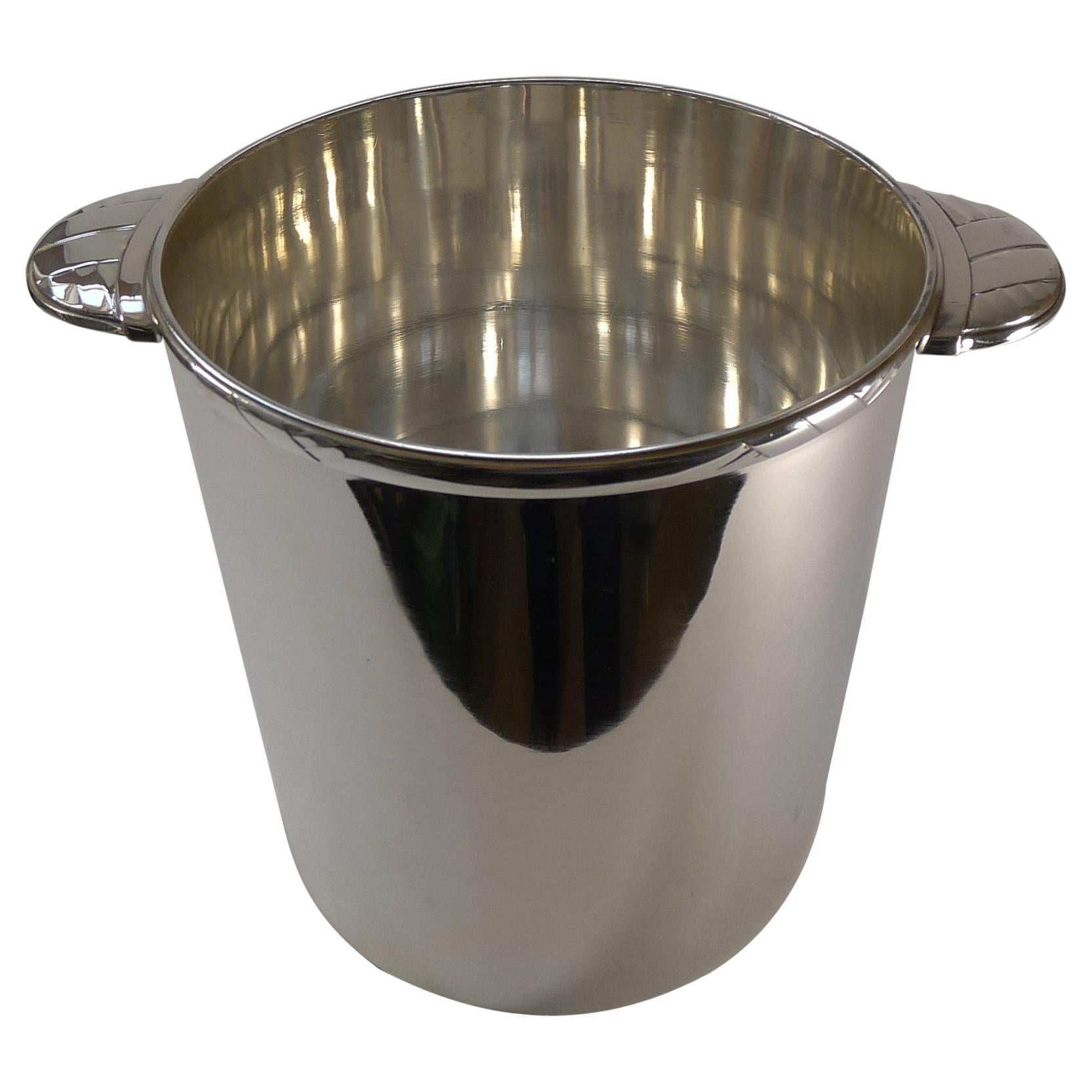Rare French Art Deco Champagne Bucket / Wine Cooler by Ercuis, Paris