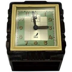 Rare French Bakelite Miniature Alarm Clock by JAZ