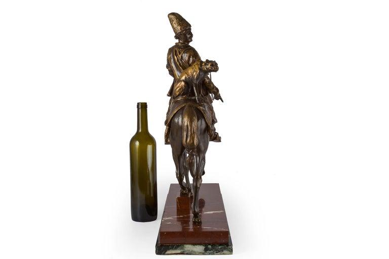 Romantic Rare French Bronze Sculpture