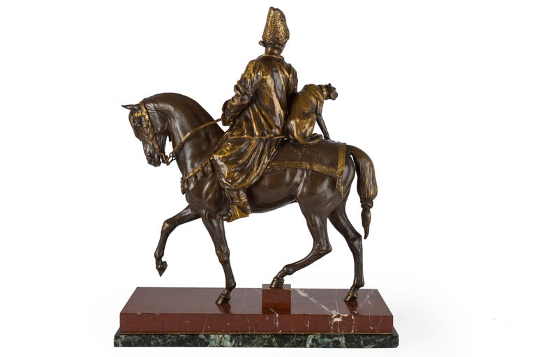 Carved Rare French Bronze Sculpture