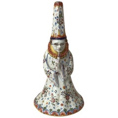 Rare French Faience Wizard Bell Desvres, circa 1890