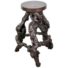 Rare French Grapevine Root Bar Stool
