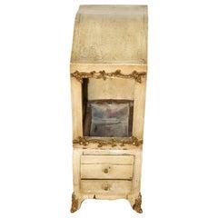 Rare French-Made Creme Painted Brass Ormolu Jewelry Box Planter Circa 1940