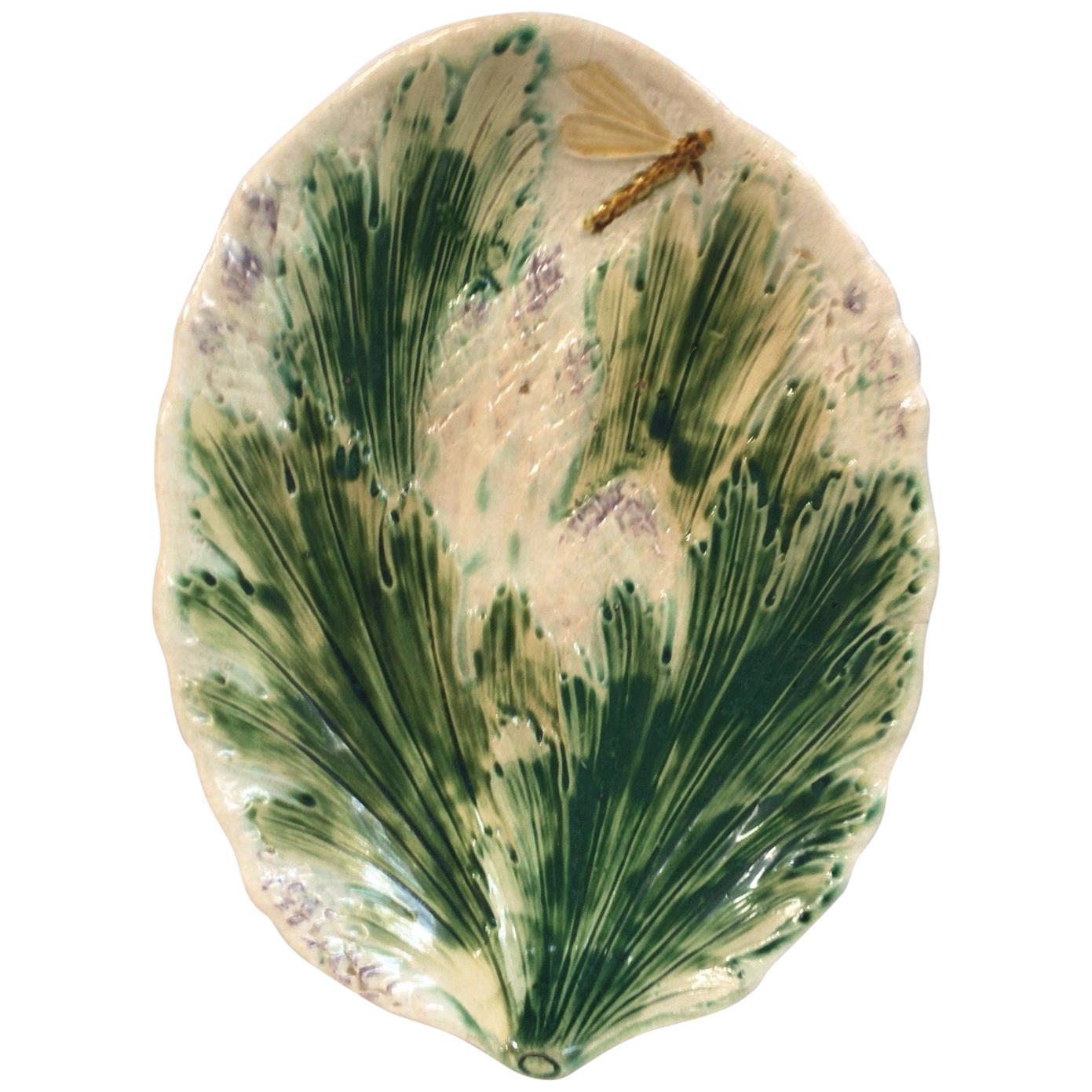 Rare French Majolica Asparagus Platter, circa 1880