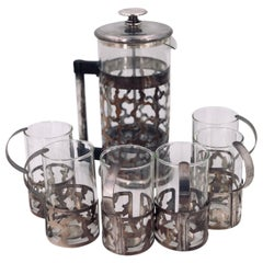 Rare French Press Coffee Maker Set Designed in 1987 by George Sowden Memphis Era