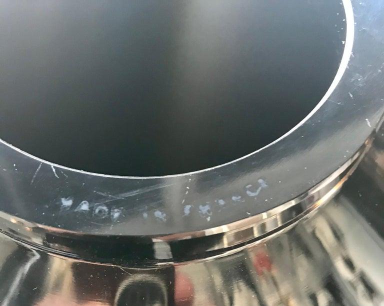 Rare French Verlys Black Glass Art Deco Vase For Sale 11