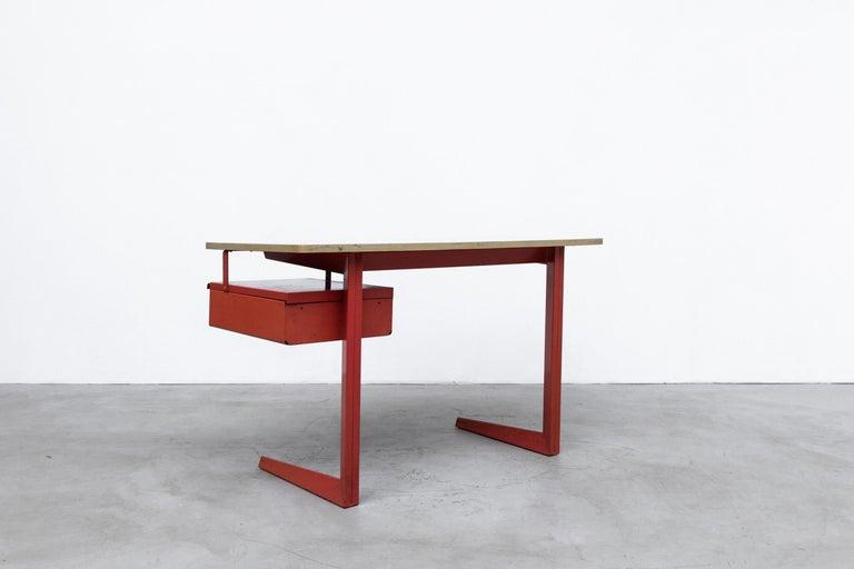 Enameled Rare Friso Kramer Teachers Desk For Sale