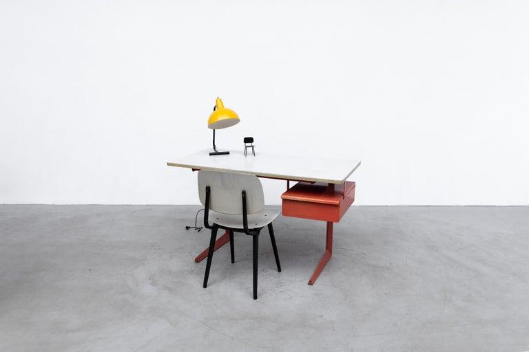 Rare Friso Kramer Teachers Desk In Good Condition For Sale In Los Angeles, CA