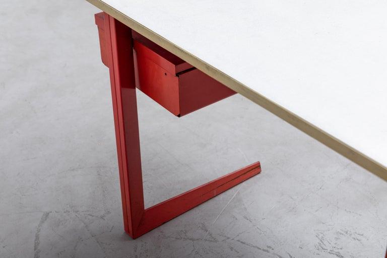 Metal Rare Friso Kramer Teachers Desk For Sale