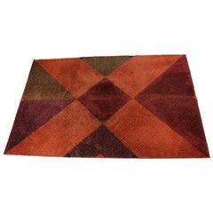 Rare Geometric Modernist Carpet, 1960s