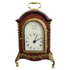 Rare George III Miniature Twin Fusee Mantel Clock Hunter London, Circa 1790