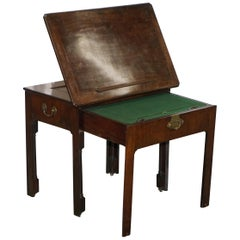 Rare Georgian Irish Mahogany circa 1760 George III Architects Writing Desk Table