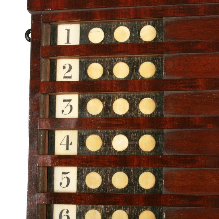 Mahogany Rare Georgian 'Life Pool' Scoreboard For Sale
