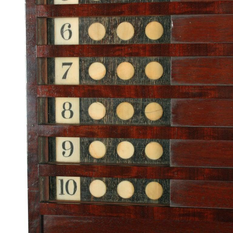 Rare Georgian 'Life Pool' Scoreboard For Sale 1
