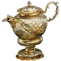 Rare German Silver Gilt Ewer