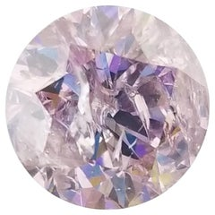 Rare GIA Certified 2.08 Carat Fancy Pink Round Shape Loose Diamond