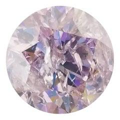 Rare GIA Certified 2.08 Carat Fancy Pink Round Shape Loose Diamond