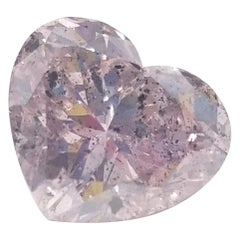 Rare GIA Certified 3.24 Carat Fancy Pink Heart Shape Loose Diamond