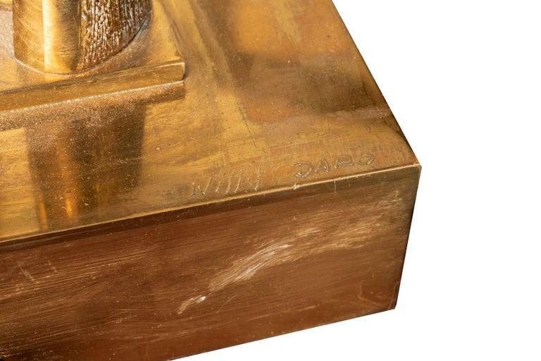 Rare gilded polished brass