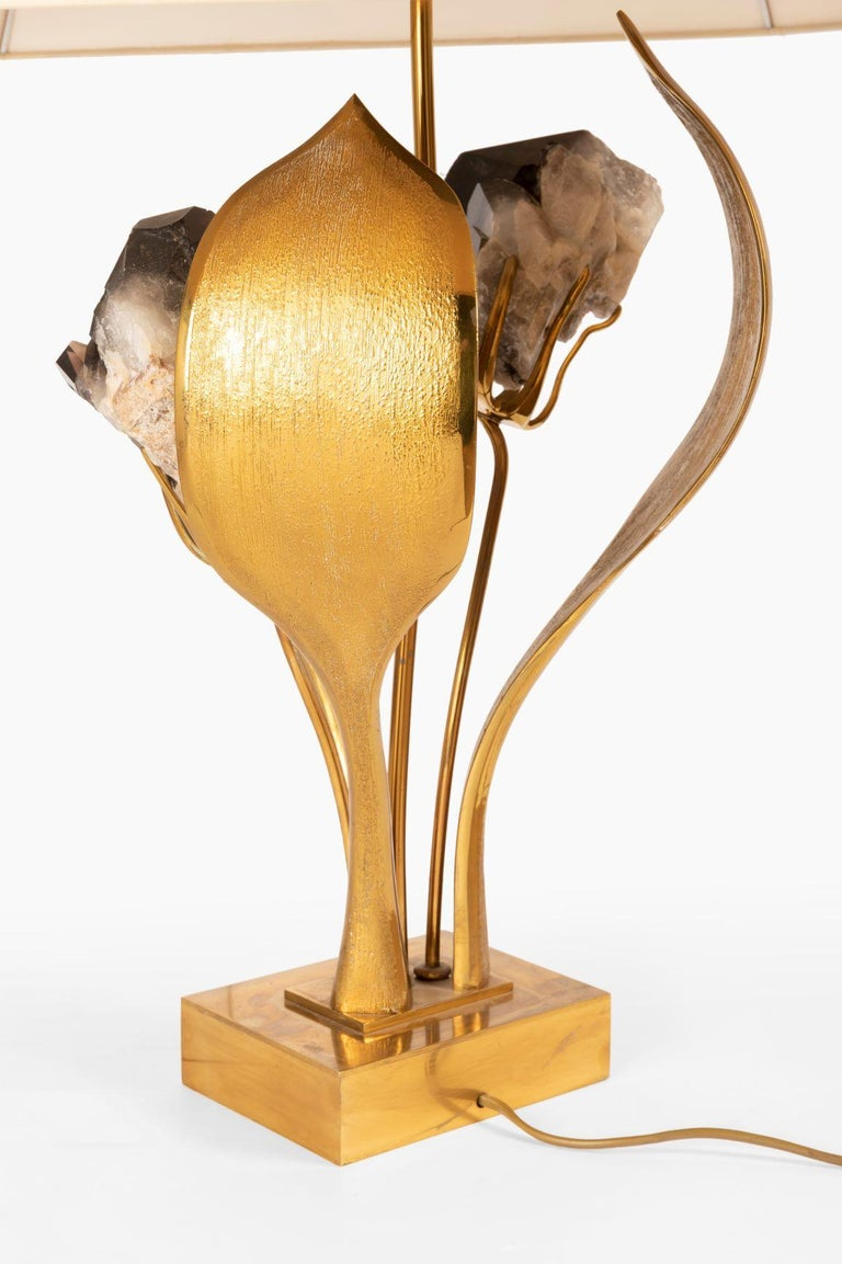 French Rare Gilded Brass and Black Quartz