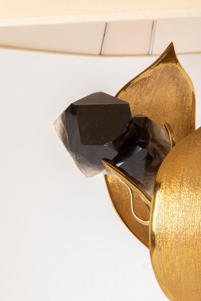 Rare Gilded Brass and Black Quartz