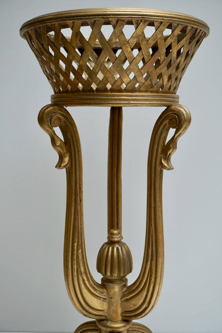 Rare Giltwood Jardiniere Planter in the Art Deco Style of Edgar Brandt For Sale 1