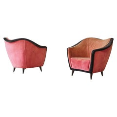 Rare Gio Ponti Attributed Armchairs by Casa e Giardino, Italy, 1940s