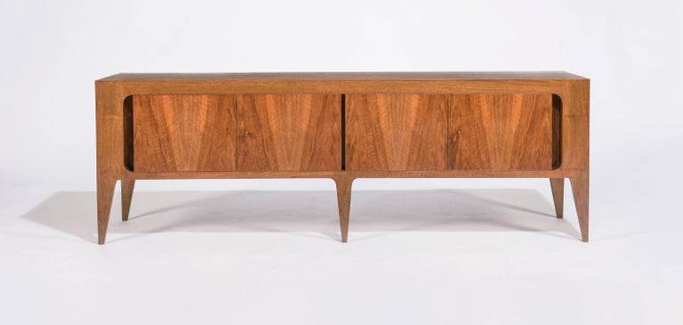 Mid-Century Modern Rare Gio Ponti Hanging Cabinet and Sideboard 1951 Singer & Sons For Sale