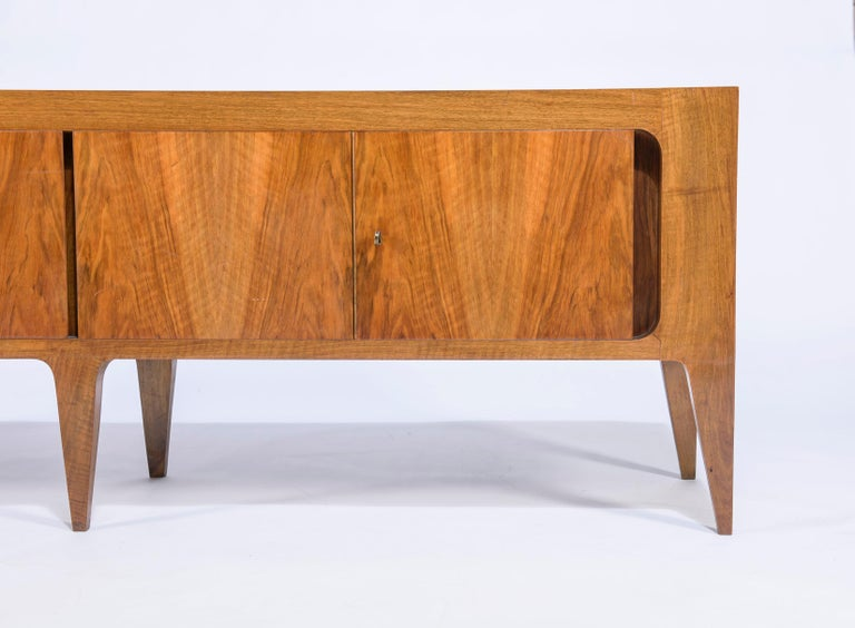 Italian Rare Gio Ponti Hanging Cabinet and Sideboard 1951 Singer & Sons For Sale