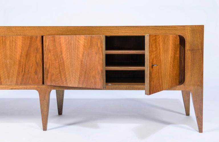Walnut Rare Gio Ponti Hanging Cabinet and Sideboard 1951 Singer & Sons For Sale