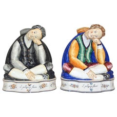 "Rare Gio Ponti ""Il Pellegrino Stanco"" Ceramic Figures"