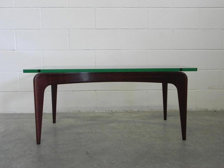 Mid-Century Modern Rare Gio Ponti Mahogany Coffee Table by Fontana Arte For Sale