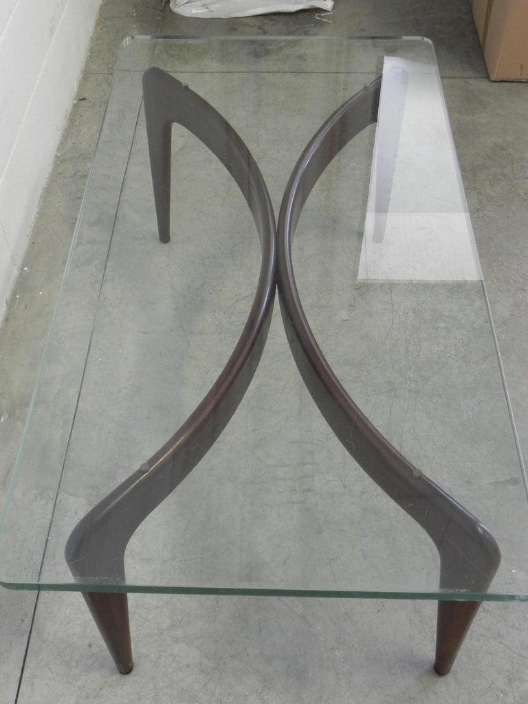 Rare Gio Ponti Mahogany Coffee Table by Fontana Arte For Sale 2