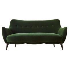 Rare Giulia Veronesi Perla Sofa, ISA Bergamo, Newly Re-Upholstered, Italy, 1950s