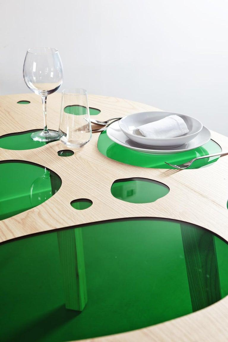 Spanish Rare Glass and Wood Prototype Aquario Table by Campana Brothers For Sale