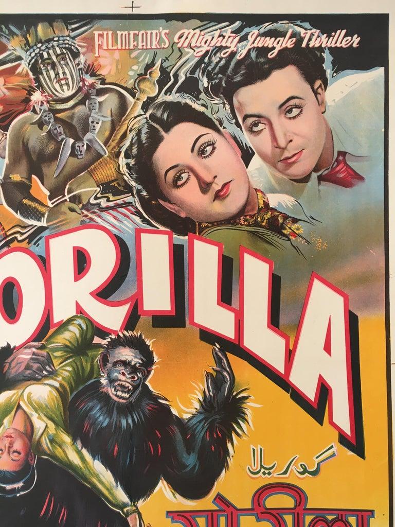 Indian Rare 'Gorilla' Original Vintage Bollywood Movie Poster, 1953 For Sale