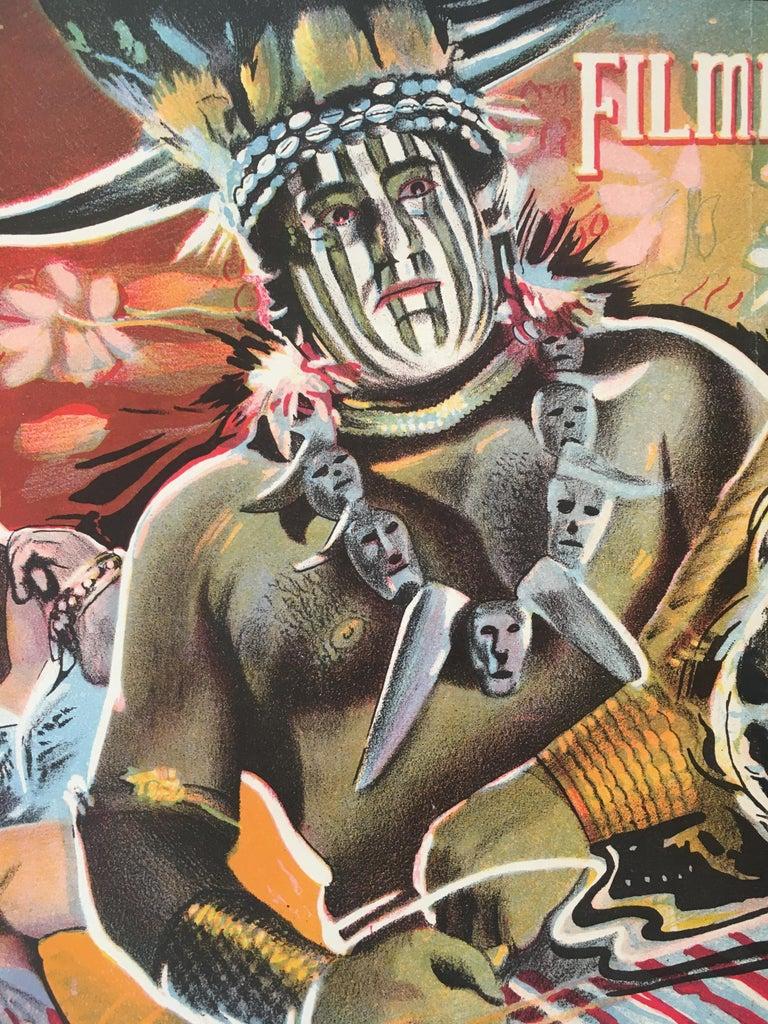 Mid-20th Century Rare 'Gorilla' Original Vintage Bollywood Movie Poster, 1953 For Sale