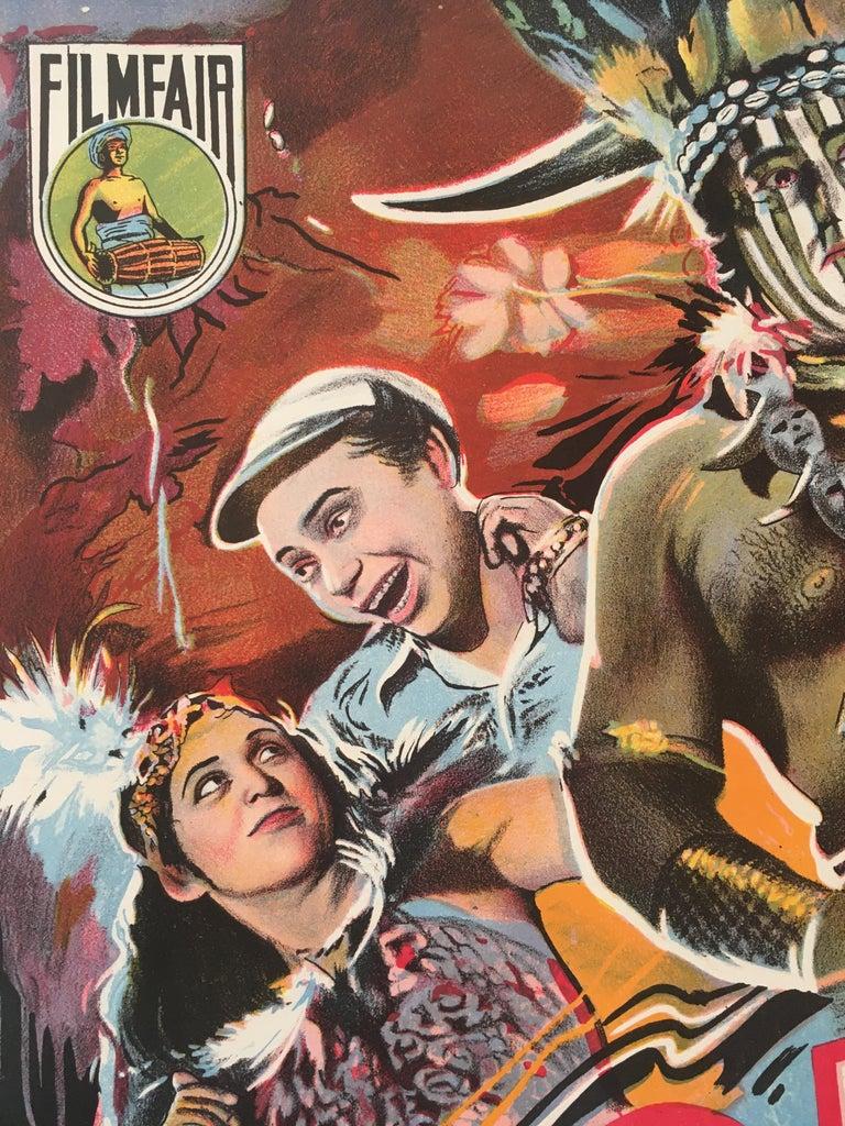 Paper Rare 'Gorilla' Original Vintage Bollywood Movie Poster, 1953 For Sale