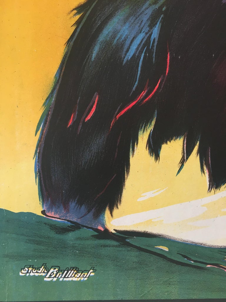 Rare 'Gorilla' Original Vintage Bollywood Movie Poster, 1953 For Sale 1