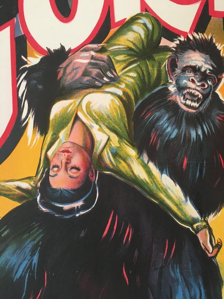 Rare 'Gorilla' Original Vintage Bollywood Movie Poster, 1953 For Sale 2