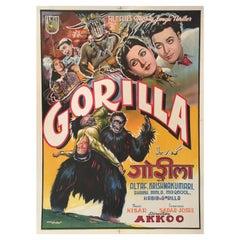 Rare 'Gorilla' Original Vintage Bollywood Movie Poster, 1953