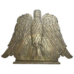 Rare Gothic Revival Embossed Brass Eagle Sculpture Church Altar Bible Stand