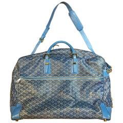Rare Goyard Blue Suit Travel Bag in monogram Canvas
