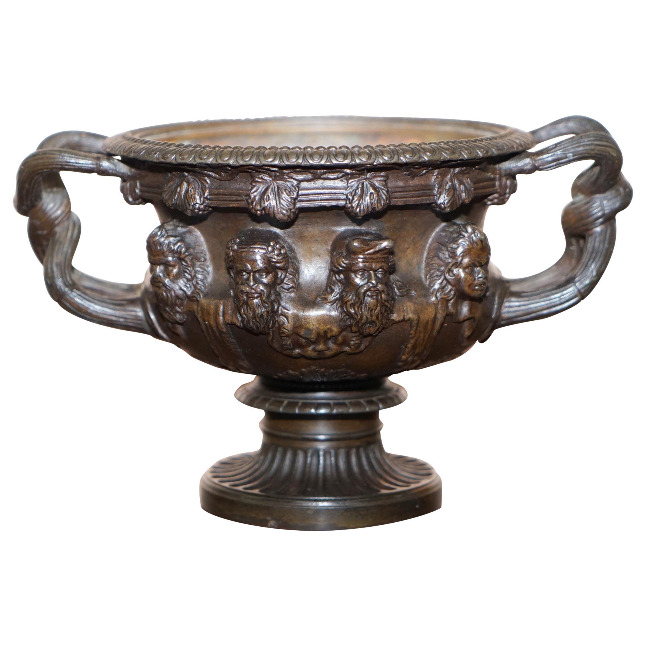 Rare Grand Tour Bronze of the Warwick Vase circa 1880 Based on Roman Original