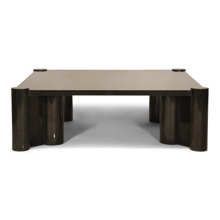 Polished Rare Granite 'Jumbo' Cocktail Table by Gae Aulenti for Knoll International, 1980 For Sale
