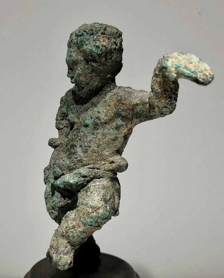 Hellenistic Rare Greek, 'Alexandrian', Bronze Grotesque Statuette of a Pugilist Boxer For Sale