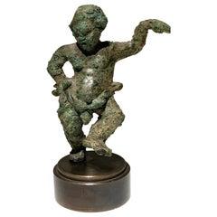 Rare Greek, 'Alexandrian', Bronze Grotesque Statuette of a Pugilist Boxer
