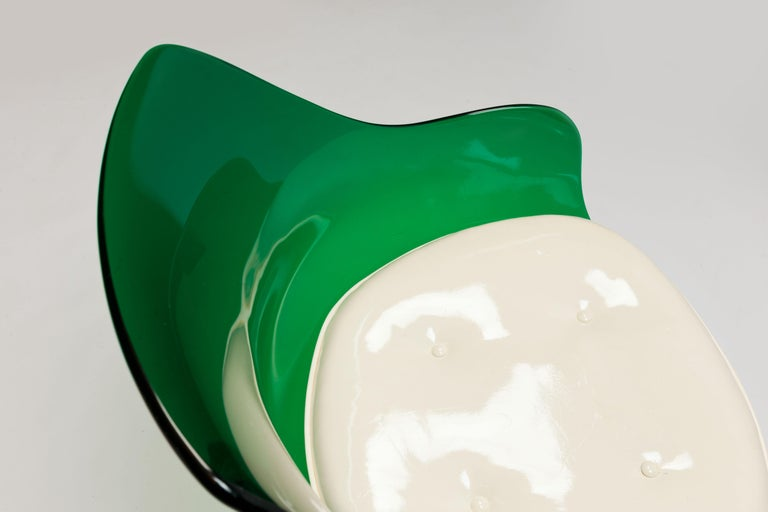 Rare Green Edition 'Champagne' Chair by Estelle & Erwin Laverne For Sale 3