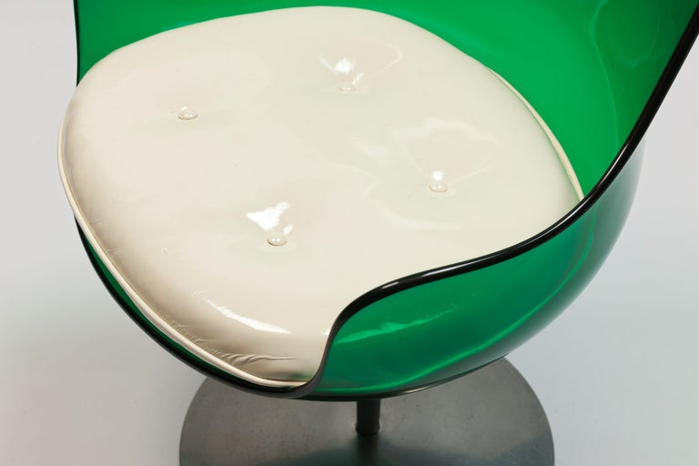 Rare Green Edition 'Champagne' Chair by Estelle & Erwin Laverne For Sale 4